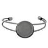 Bangle Bracelet for Epoxy Clay Gunmetal 26mm ID Round Bezel