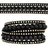 3 Row Double Wrap Bracelet with Snap Clasp Jet/LCT