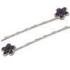 Pair of Flower Bobbie Pins Purple