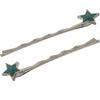 Pair of Star Bobbie Pins Turquoise