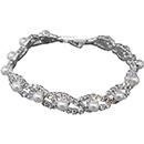 Pearl Accent Rhinestone Tennis Bracelet
