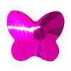 Spark Butterfly Flat Back Fuschia 9x8mm