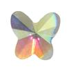 Spark Butterfly Flat Back Crystal AB 6x5.5mm