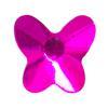 Spark Butterfly Flat Back Fuschia 6x5.5mm