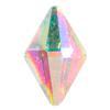 Spark Diamond Shaped Flat Back Crystal AB 8x5mm