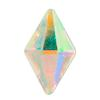 Spark Diamond Shaped Flat Back Crystal AB 10x6mm
