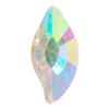 Spark Diamond Leaf Flat Back Crystal AB 8x4mm