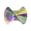 Spark Bow Flat Back Crystal AB 6x4.5mm