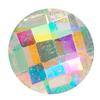 Spark Chessboard Circle Flat Back Crystal AB 6mm