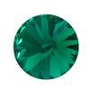 Spark Rivoli Round Stone Emerald 12mm