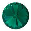 Spark Rivoli Round Stone Emerald 14mm