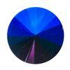Spark Rivoli Round Stone Iridescent Blue 14mm