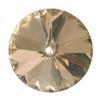 Spark Rivoli Round Stone Light Colorado Topaz 12mm