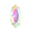 Spark Navette Fancy Stone in Sew-on Setting Crystal AB 15x7mm