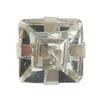 Spark Square Fancy Stone in Sew-on Setting Crystal 5mm