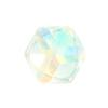 Spark Flat Back Cube Fancy Stone Crystal AB 4mm