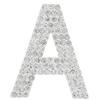 "Rhinestone Alphabet ""A"" Iron On Applique Patch Crystal 1 1/2"""