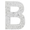 "Rhinestone Alphabet ""B"" Iron On Applique Patch Crystal 1 1/2"""