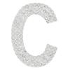 "Rhinestone Alphabet ""C"" Iron On Applique Patch Crystal 1 1/2"""