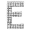 "Rhinestone Alphabet ""E"" Iron On Applique Patch Crystal 1 1/2"""