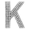 "Rhinestone Alphabet ""K"" Iron On Applique Patch Crystal 1 1/2"""
