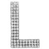 "Rhinestone Alphabet ""L"" Iron On Applique Patch Crystal 1 1/2"""