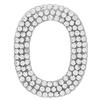"Rhinestone Alphabet ""O"" Iron On Applique Patch Crystal 1 1/2"""