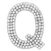 "Rhinestone Alphabet ""Q"" Iron On Applique Patch Crystal 1 1/2"""