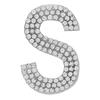 "Rhinestone Alphabet ""S"" Iron On Applique Patch Crystal 1 1/2"""