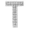 "Rhinestone Alphabet ""T"" Iron On Applique Patch Crystal 1 1/2"""