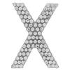 "Rhinestone Alphabet ""X"" Iron On Applique Patch Crystal 1 1/2"""