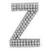 "Rhinestone Alphabet ""Z"" Iron On Applique Patch Crystal 1 1/2"""