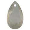 Spark Crystal Pear Shape Faceted Pendant, Black Diamond 22mm