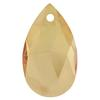 Spark Crystal Pear Shape Faceted Pendant, Golden Shadow 22mm