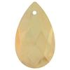 Spark Crystal Pear Shape Faceted Pendant, Golden Shadow 28mm