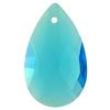 Spark Crystal Pear Shape Faceted Pendant, Aquamarine 28mm
