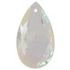 Spark Crystal Pear Shape Faceted Pendant, Crystal AB 40mm