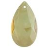 Spark Crystal Pear Shape Faceted Pendant, Golden Shadow 40mm