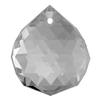 Spark Crystal Disco Drop Shape Faceted Pendant, Crystal 25mm