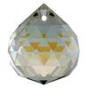 Spark Crystal Disco Drop Shape Faceted Pendant, Crystal AB 25mm