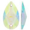 Sew on Acrylic Rhinestones Pear Crystal AB 28x17mm
