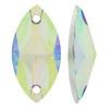 Sew on Acrylic Rhinestones Navette Crystal AB 9x8mm