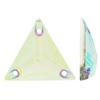 Sew on Acrylic Rhinestones Triangle Crystal AB 22x22mm