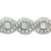Crystal AB/Silver Rhinestone Trim