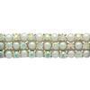 Crystal AB/Silver Pearl Rhinestone Trim