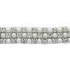 Crystal/Silver Pearl Rhinestone Trim