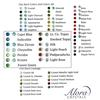 Alora Rhinestones FlatBack Color Chart