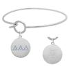Delta Delta Delta Charm Bangle Bracelet made with Swarovski Crystals