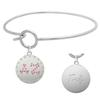 Delta Zeta Charm Bangle Bracelet made with Swarovski Crystals