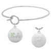 Kappa Delta Charm Bangle Bracelet made with Swarovski Crystals